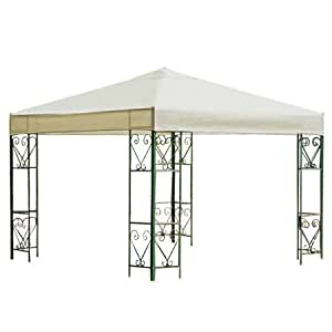 NEW 10' X 10' ONE Tier Replacement Gazebo Canopy TOP Cover SUN Shade 10x10 Beige