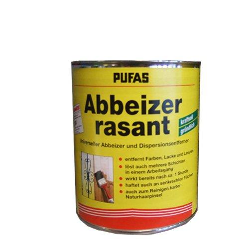 Pufas Abbeizer RASANT - universeller Abbeizer Farben Lacke Lasuren und reinigen von harten Pinseln