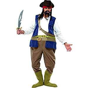 Disfraz de pirata gordo para hombre
