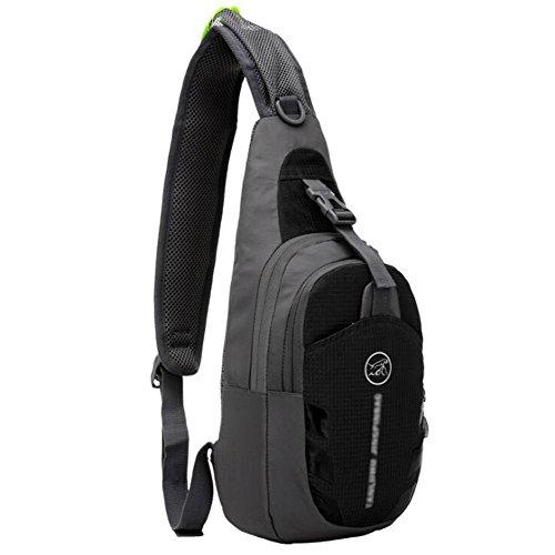 (TeyxoCo Women Lightweight Ultra-thin Waterproof Nylon Bag Outdoor Sports Bag)