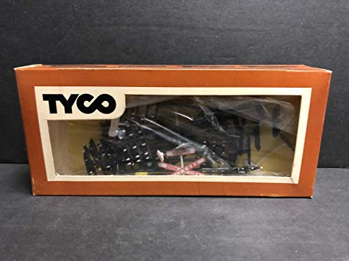 - Vintage Tyco HO Scale Model Train Accessories Set with Railroad Crossing Sign