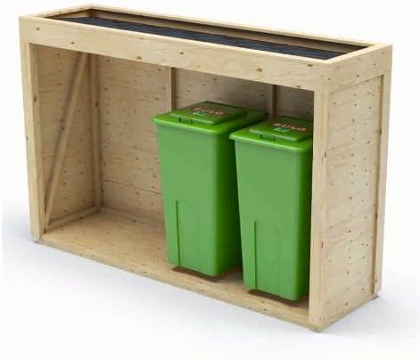 abbastanza Copri bidone e cassonetti rifiuti in legno abete di qualità XY61