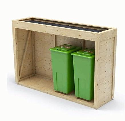 Amato Copri bidone e cassonetti rifiuti in legno abete di qualità  GI31