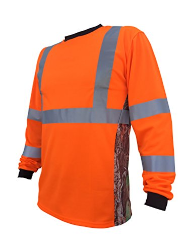 SafetyShirtz SS360 Deepwoods Camo Safety Long Sleeve Tee ANSI Class 3 L