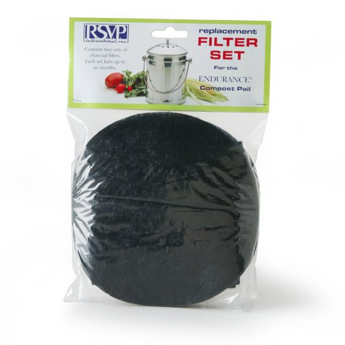 Pail Filters Compost - RSVP Replaceement Filters for Compost Pail - X-Large