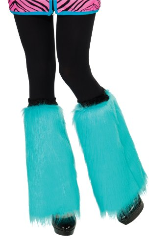 Rubie's Fluffies Faux Furry Leg Warmers, Aqua Blue, One Size -