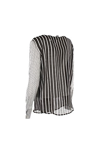 Camicia Donna Twin-Set 48 Nero/Bianco Ts82zq Primavera Estate 2018