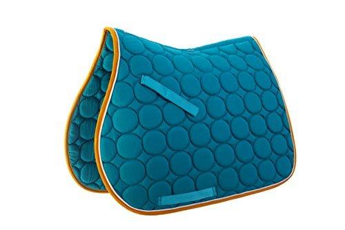 Roma Circle Quilt All Purpose Saddle Pad - Aqua/white/gold - Full ()