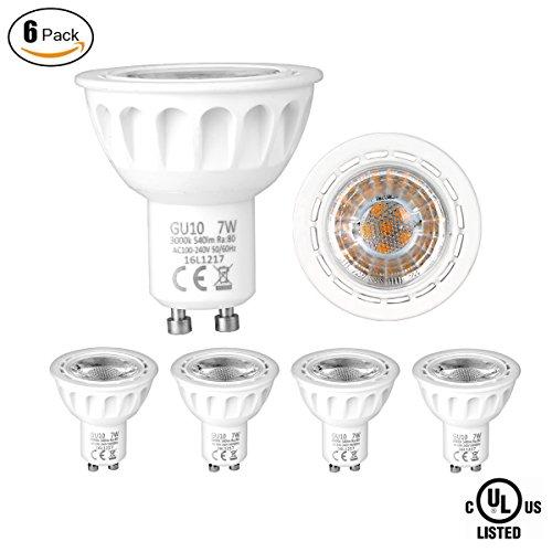 SUNMEG GU10 LED Light Bulb, 7W LED Bulbs 60W Equivalent, 120