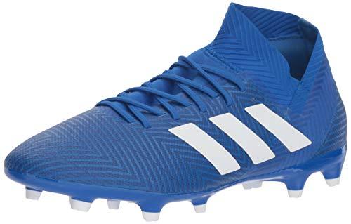 adidas Men's Nemeziz 18.3 Firm Ground Soccer Shoe, White/Football Blue, 11.5 M US