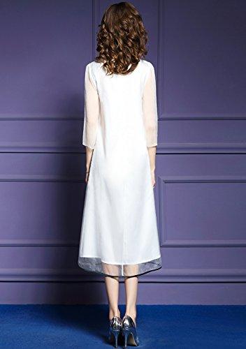 Cotyledon `s Delle Donne Una Linea Di Abiti Vestito Elegante Ricamo Allentato