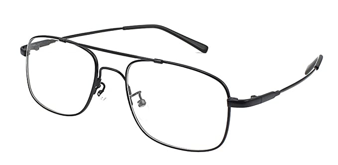 fdc87410768da Amazon.com  Agstum Pilot Full-flex Optical Memory Titanium Eyeglass ...