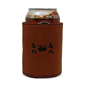 Indigenous People Leather Can Sleeve, Beer Sleeve, Beer Cooler, Beer Hugger