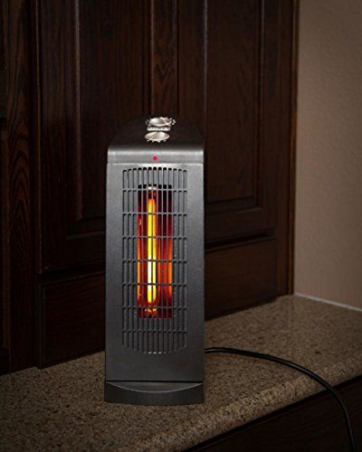 "Lightweight Design Small Room Series 16"" Heat Tower Black Space Heater Infrared Heaters Lifesmart"