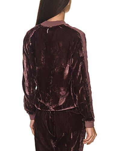 Deha Rose Burgundy Grey Bomber Women's Jacket Velvet gzFgv