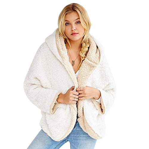 WanYang Femme Blousons Fermeture Manteau Court Veste Outwear Coat Manteau Blanc