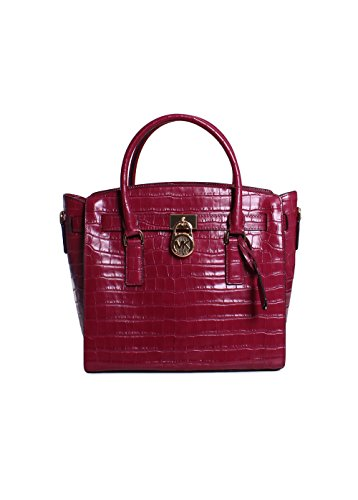 Michael Kors Hamilton Large East West Leather Satchel in Mulberry by Michael Kors