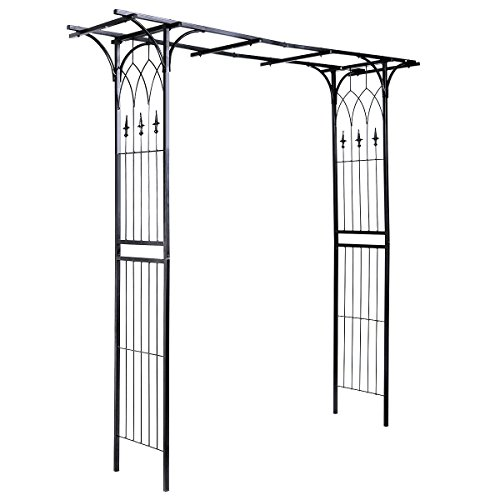 New Black Garden Wedding Rose Arch Pergola Archway Flowers Climbing Plants Trellis Metal by totoshop