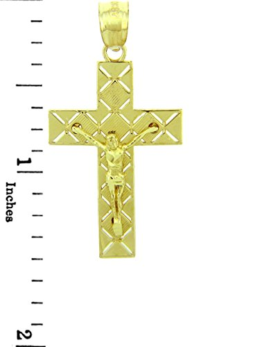 10 ct 471/1000 Or Jaune Crucifix - La Ciel Crucifix Pendentif