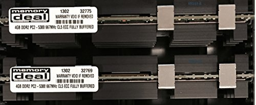 - 8GB (2X 4GB) RAM Memory for Apple MAC PRO 2006 1st Gen 1,1 (DDR2 4 GB 667MHz ECC FB DIMM)
