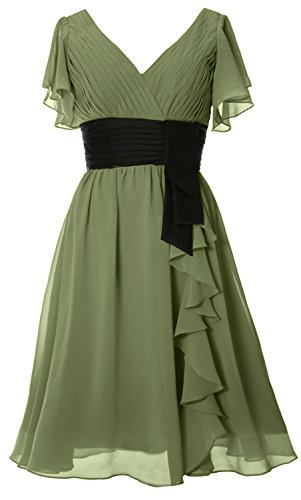 Formal Short Party Neck Macloth Dress V Sleeves Gown Clover Midi Women Of Bride Mother wBqInxYfaZ