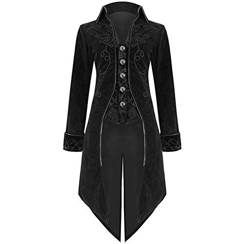MAGE MALE Mens Luxurious Suit Jacket Blazer Slim Fit Tuxedo European Court Gothic Evening Gown Prom -