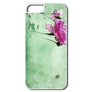 Case For Iphone 5/5S Cover Case, Rose White Cover Case For Iphone 5/5S Cover