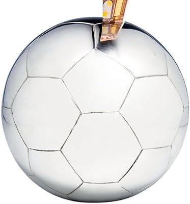 Kare 33316 - Hucha en forma de balón de fútbol, color plateado ...
