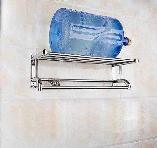 (Hlluya Bathroom Accessory Set Towel Rack Stainless Steel 304 Bath Towel Rack Towel bar Bathroom Racks Bathroom Full 304 Material Warranty no Rust Thick Base,50CM)