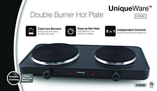 Uniqueware Double Burner Portable Buffet Rang (Double Burner) - Double Buffet Range
