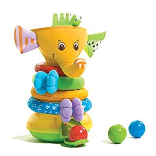Tiny Love Musical Stack and Ball Game, Yellow Elephant