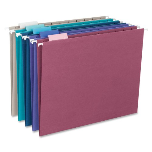 Smead-Hanging-File-Folder-with-Tab-15-Cut-Adjustable-Tab-Letter-Size-Assorted-Jewel-Tone-Colors-25-per-Box-64056