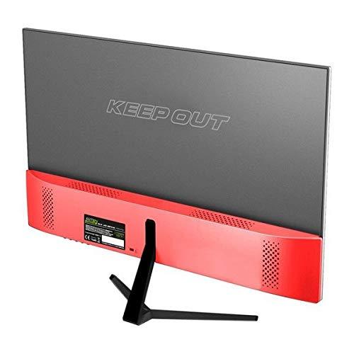, 1920 x 1080 Pixeles, Full HD, LED, 5 ms, Negro, Rojo 23.8 60,5 cm KeepOut XGM24 Pantalla para PC 60,5 cm Full HD Plana Negro 23.8 Rojo Monitor