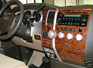 toyota tundra interior burl wood dash trim kit set 2007 2008 2009 2010 automotive. Black Bedroom Furniture Sets. Home Design Ideas