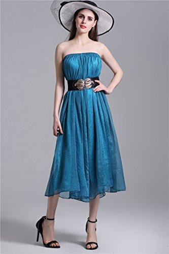 Plage Robe D'usure Jupe Jupe Minetom Skirt Femme Bleu Style Mousseline Bohme en t lgant Longue Styles Maxi Chic Soie 2 de 1qBS1a7w