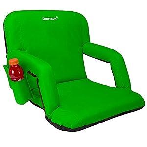 Driftsun Stadium Seat Reclining Bleacher Chair Folding with Back / Sport Chair Reclines Perfect For Bleachers Lawns and Backyards from Driftsun