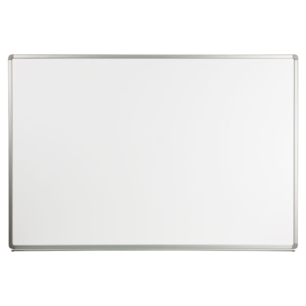 Offex OF-YU-120X180-WHITE-GG Magnetic Marker Board, Dry Erase Board, Writing Surface, For Classroom, Office, School Writing Surface Aluminum Frame, 6 x 4 Feet, Porcelain White