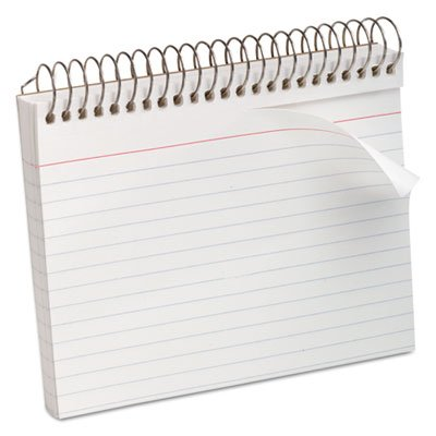 Spiral Index Cards, 4 x 6, 50 Cards, White, Sold as 1 Each