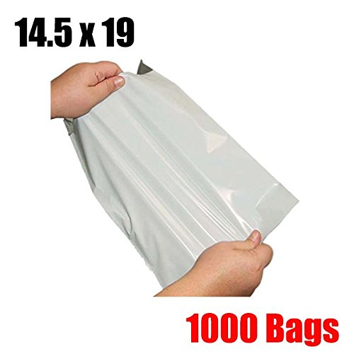 iMBAPrice 1000 14.5x19 WHITE POLY MAILERS ENVELOPES BAGS 14.5