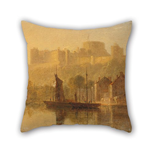 Windsor Childs Rocker (16 X 16 Inch / 40 By 40 Cm Oil Painting William Daniell - Windsor Castle From The Thames Throw Pillow Covers ,twice Sides Ornament And Gift To Kids Boys,outdoor,birthday,wedding,family,pub)