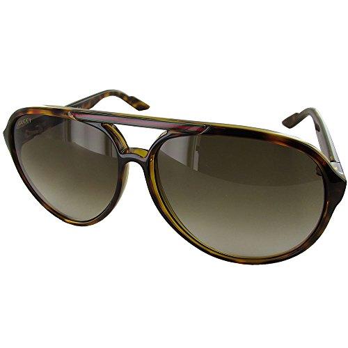 Gucci+Men%27s+1627%2FS+Aviator+Sunglasses%2CHavana+Frame%2FBrown+Grey+Grad+Lens%2COne+Size