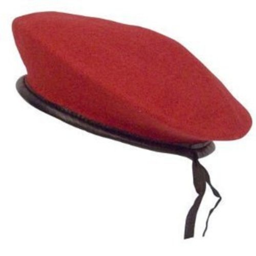 Military Wool Monty Beret - Military Wool Monty Beret Red SML