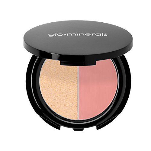 Duo Blush Mineral Compact - glominerals Blush Compact Duo - Garland 0.12 Ounce