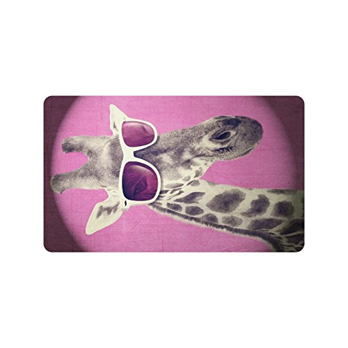 your-fantasia Giraffe with Sunglasses Floor Mat Doormat Non Slip Door Mat 23.6 x - Fantasy Sunglasses