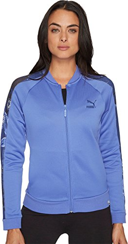 PUMA Women's Archive T7 Track Jacket Baja Blue Small