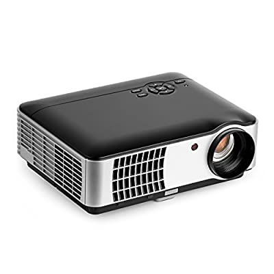2800 Lumens Video Projector, OCDAY 5.0 Inch LCD TFT Display 1280x768 Resolution Support 1080P by USB HDMI VGA SD AV Compatible with Home Cinema Theater TV Laptop Game iPad iPhone Android Smartphone