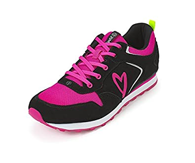 1b430026bd Zumba Athletic Footwear Women's Dance Workout Sneakers Running Shoe,  Black/Pink, ...