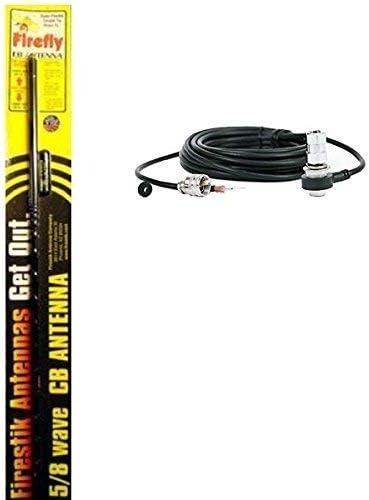 FireStik Antenna Company K8R9 9ft W//pl259 /& Firering Conn