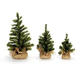 Darice Mini Christmas Tree with Burlap Base, Canadian 12""