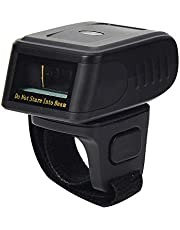 LENVII R200 2D Wearable Ring Barcode Scanner Bluetooth &2.4G Mode Wireless Finger Mini Bar Code Reader- Compatible for Windows- Mac OS, Android 4.0+, iOS, Support Scan QR PDF417 DataMatrix UPCA/EAN+5